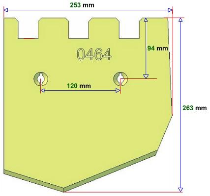 Lemiesz lewy Grimme 089.00464 zamiennik