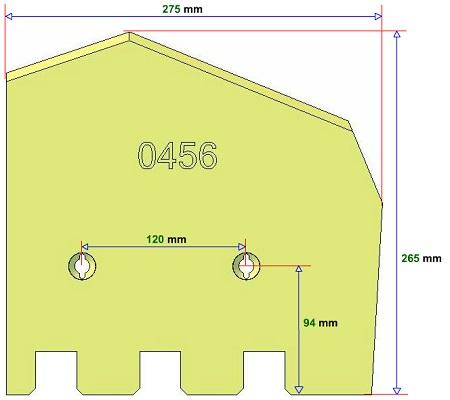 Lemiesz prawy Grimme 089.00456 zamiennik
