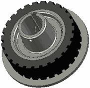 rolka żeliwno gumowa