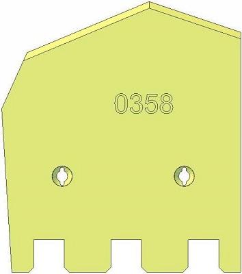Lemiesz lewy Grimme 089.00358 zamiennik