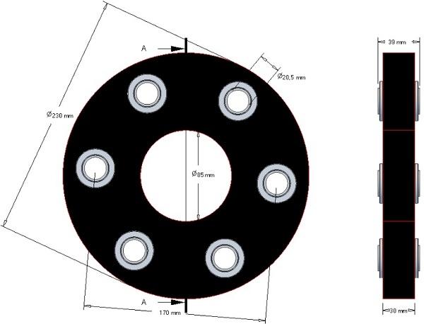 Tarcza elastyczna Claas 230