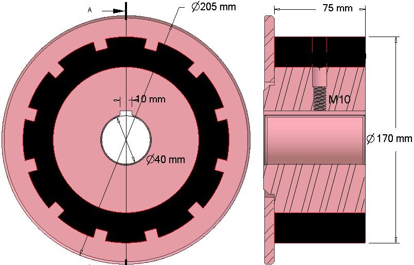 Rolka napędowa AVR 742.20.70