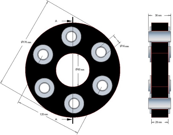 Tarcza elastyczna Claas 170