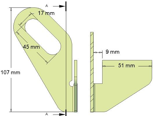 Zgarniacz metalowy lewy 015.11860 Grimme skrobak