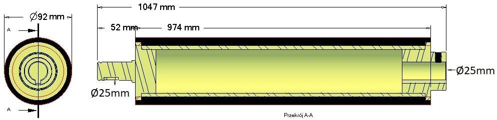 Wałek zgarniający - 076.01899