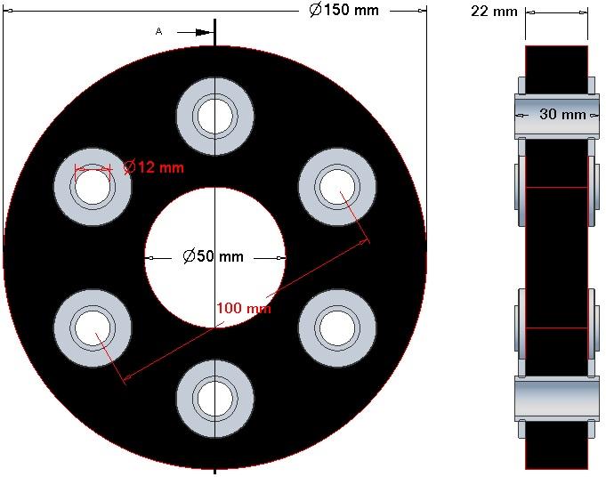 Tarcza elastyczna gruba - 7088-92-504