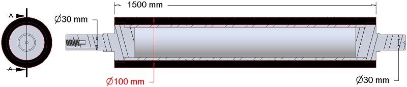 AVR wałek zgarniający 282.16.20