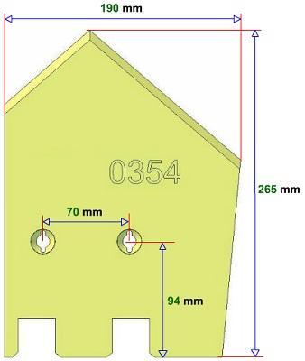 Lemiesz prawy Grimme 089.00354 zamiennik