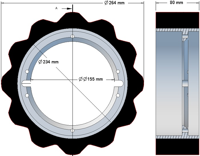 Rolka napędowa Grimme 076.04616 TL60/Z12