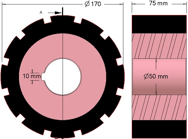 Friction drive AVR 742.20.85