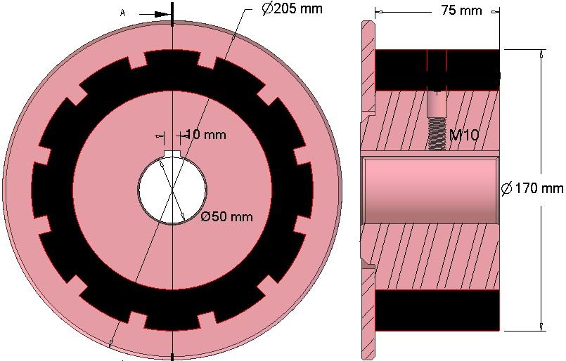 Rolka napędowa AVR 742.20.75