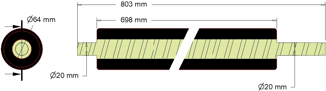 Wałek zgarniający 076.01516 Grimme