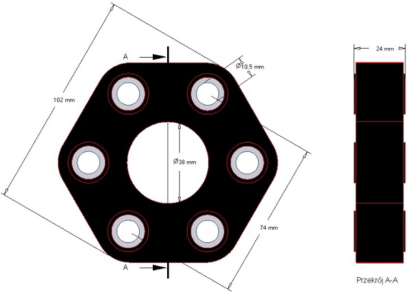Tarcza elastyczna Claas 102