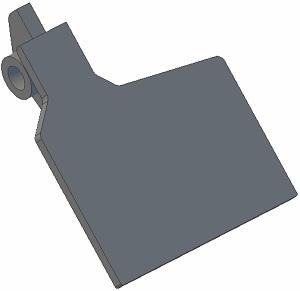 Klapka lemiesza 001.00640 P Grimme zamiennik