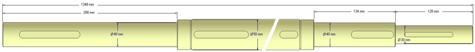 Wałek napędowy  037.02003 Grimme