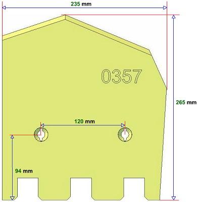 Lemiesz prawy Grimme 089.00357 zamiennik
