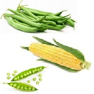 Harvesters Corn, peas and beans
